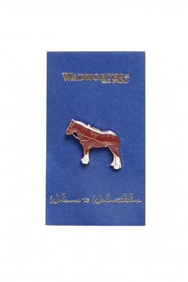 Shire Horse Pin Badge