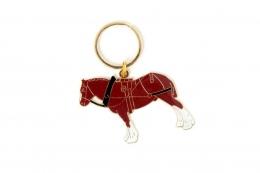 Shire Horse Keyring